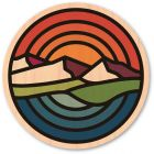 WOODSTICKER MOUNTAINS SUNSET STICKER
