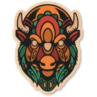 WOODSTICKER NOWHERE BISON STICKER
