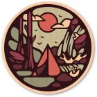WOODSTICKER NOWHERE CAMPING STICKER